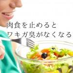 わきがは食事で改善するの?【1週間菜食生活にした結果】